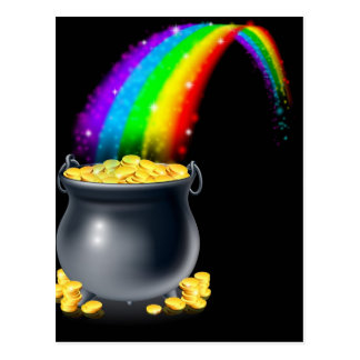 Pot of gold and rainbow post cards