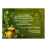 Pot of Gold and Shamrocks St Patty's Party Invite