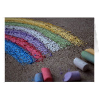 Pot of Gold at the End of the Rainbow Chalk Art Greeting Card