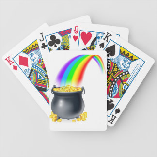 Pot of gold at the end of the rainbow bicycle poker cards