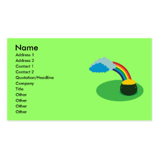 Pot of Gold Business Cards Standard Business Cards