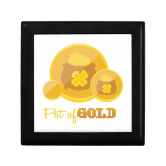 Pot Of Gold Small Square Gift Box