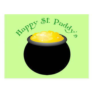 Pot Of Gold Happy St Paddy s Day Postcards