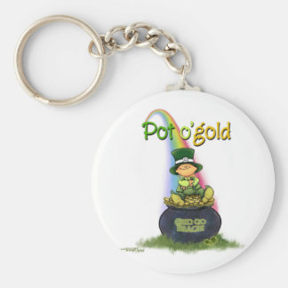 Pot of Gold - Irish Luck Basic Round Button Key Ring