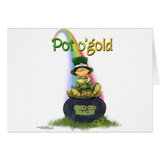 Pot of Gold - Irish Luck Greeting Card