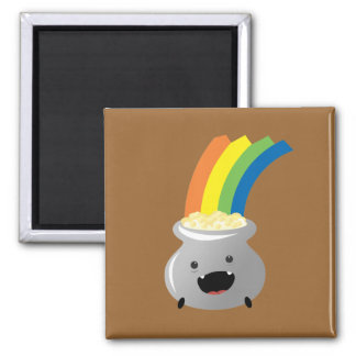 Pot of Gold Square Magnet