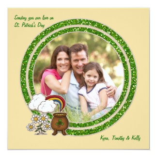 Pot of Gold - Photo St. Patrick's Day Card 13 Cm X 13 Cm Square Invitation Card