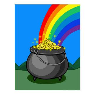 Pot of Gold & Rainbow Postcard