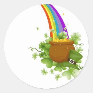 Pot of Gold Round Sticker