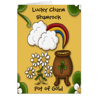Pot of Gold St. Patrick's Day Greeting Card