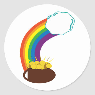 Pot Of Gold Round Stickers