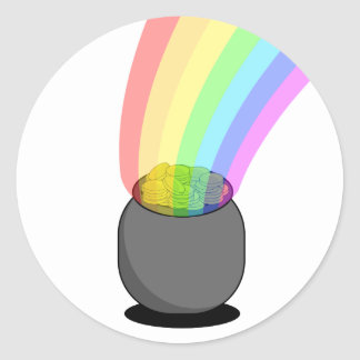 Pot of Gold with Rainbow Stickers