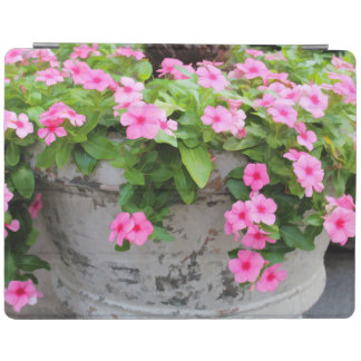 POT OF PINK FLOWERS IPAD CASE iPad COVER