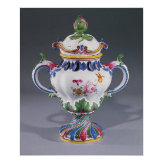 Pot-pourri Vase, made in Strasbourg, c.1754-60 Poster