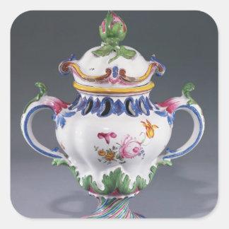 Pot-pourri Vase, made in Strasbourg, c.1754-60 Square Sticker