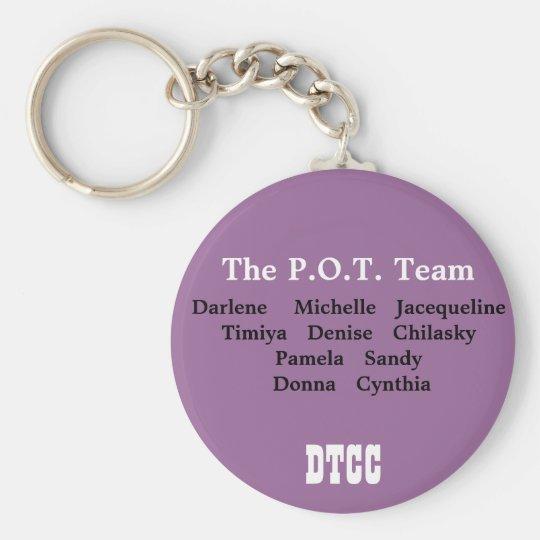 Pot Team Basic Round Button Key Ring