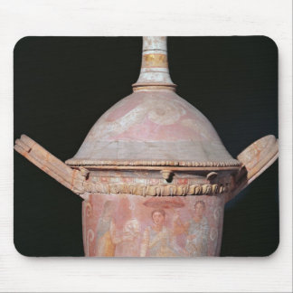 Pot with a scene of women bathing mouse mat