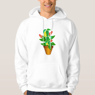 Pot with red and yellow pepper plant hooded sweatshirts