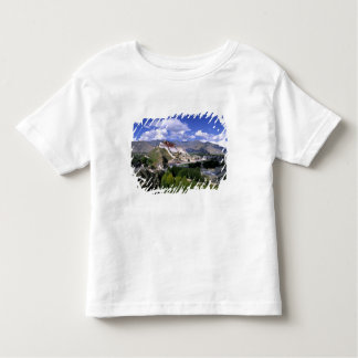 Potala Palace on mountain range from aher Toddler T-Shirt