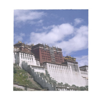 Potala Palace on mountain the home of the Dalai Notepad