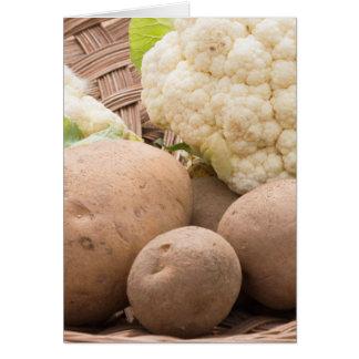 Potato and cauliflower card
