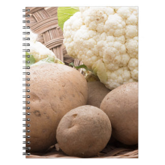 Potato and cauliflower notebook