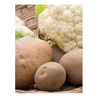 Potato and cauliflower postcard