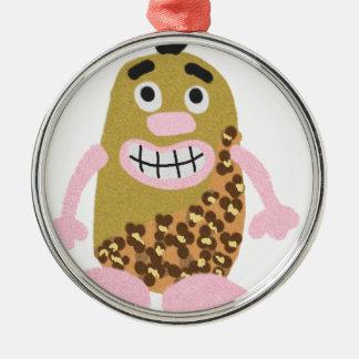 Potato cavemen christmas ornament
