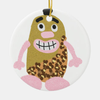 Potato cavemen christmas ornament