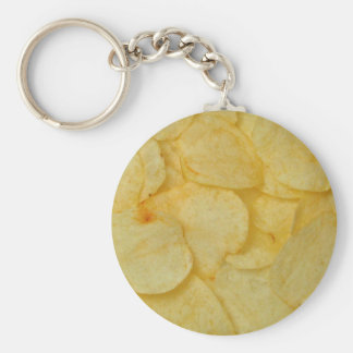 Potato Chip Basic Round Button Key Ring