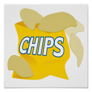 potato chips print