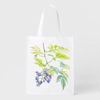 Potato creeper botanical watercolor art bag