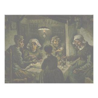 Potato Eaters by Vincent Van Gogh Custom Flyer