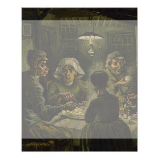 Potato Eaters by Vincent Van Gogh Flyer Design