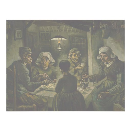Potato Eaters by Vincent Van Gogh Custom Flyer