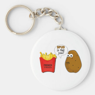 Potato French Fries is that you? Basic Round Button Key Ring