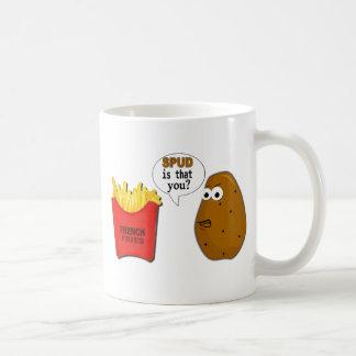 Potato French Fries is that you? funny Basic White Mug