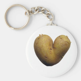 Potato love basic round button key ring