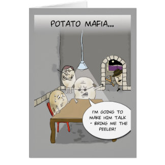 Potato Mafia Greeting Card