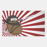Potato Ninja Rectangular Sticker