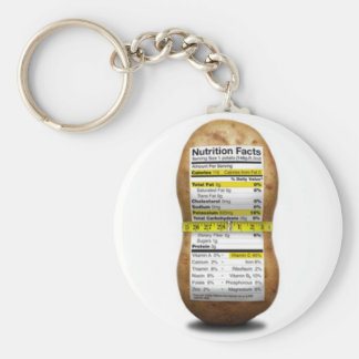 Potato Nutritional Facts Basic Round Button Key Ring
