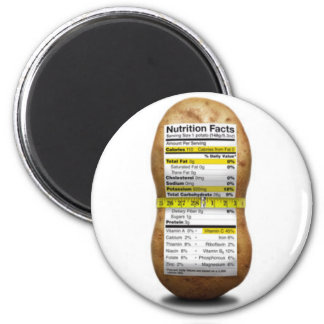 Potato Nutritional Facts Magnet