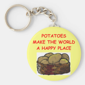 potato potatoes basic round button key ring