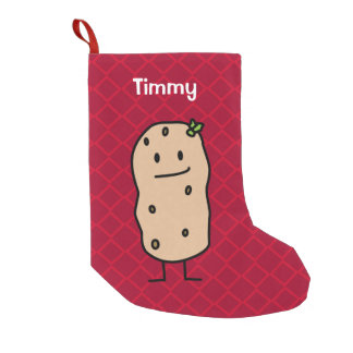 Potato Potatoes - Christmas Happy Cute Smiling Small Christmas Stocking