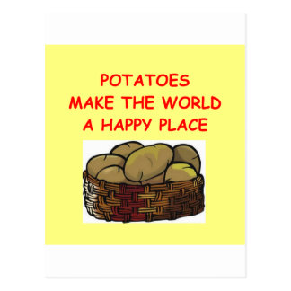 potato potatoes postcard