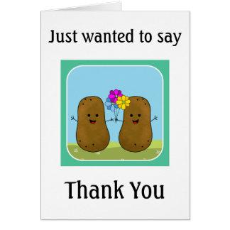 Potato Thank You Card