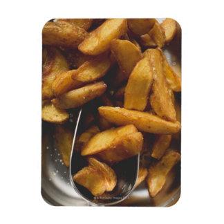 Potato wedges with salt (detail) flexible magnet