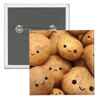 Potatoes 15 Cm Square Badge