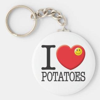 Potatoes Basic Round Button Key Ring