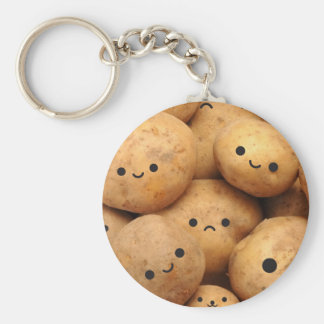 Potatoes Basic Round Button Key Ring